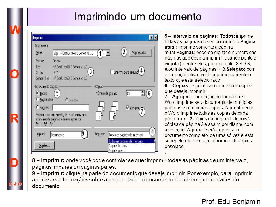 Imprimindo um documento