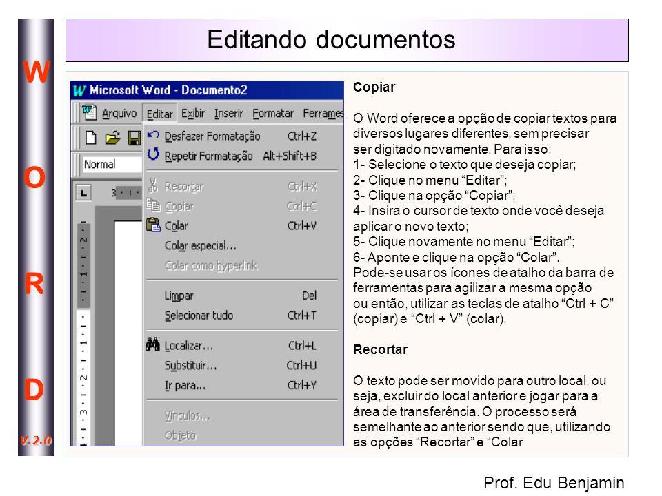 Editando documentos Copiar