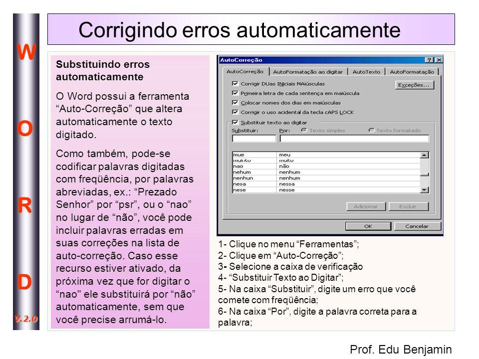Corrigindo erros automaticamente