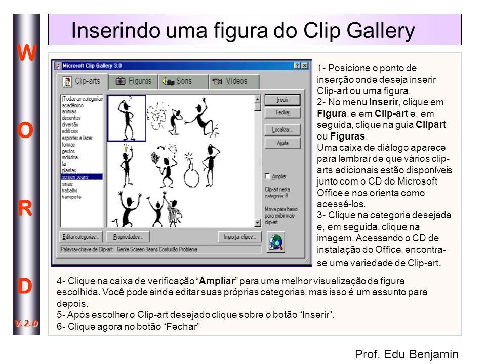 Inserindo uma figura do Clip Gallery