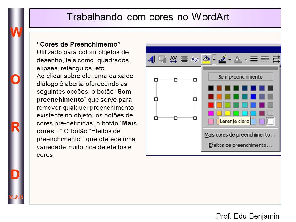 Trabalhando com cores no WordArt