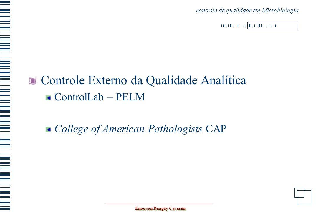 controle de qualidade em Microbiologia
