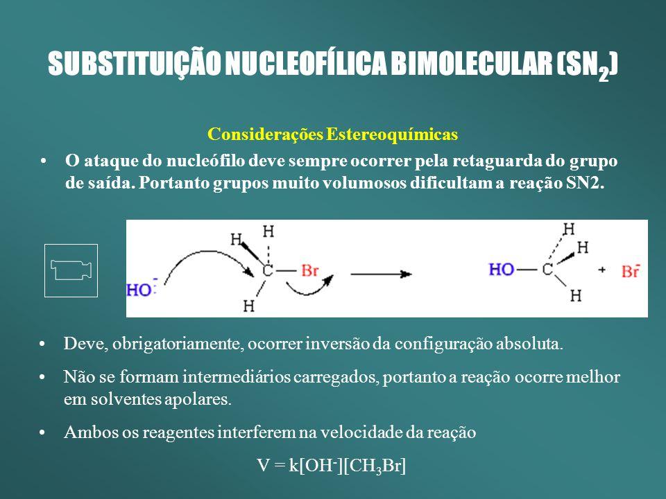 SUBSTITUIÇÃO NUCLEOFÍLICA BIMOLECULAR (SN2)