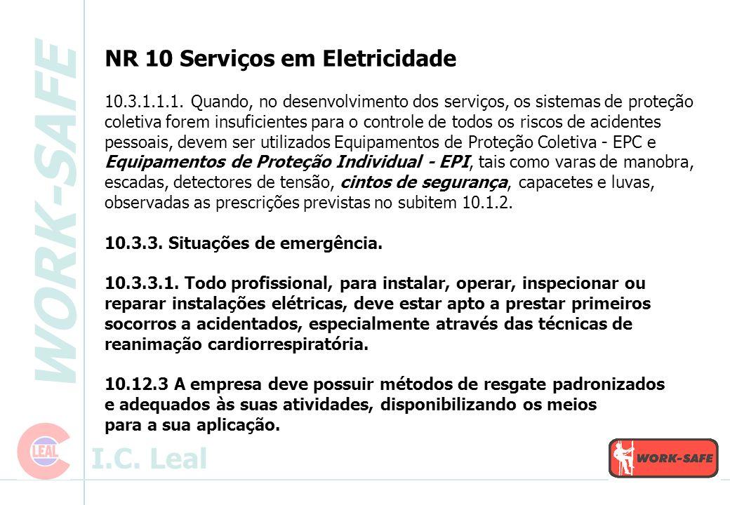 NR 10 Serviços em Eletricidade 10. 3. 1. 1. 1