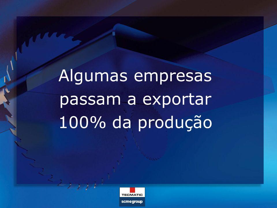 Algumas empresas passam a exportar 100% da produção