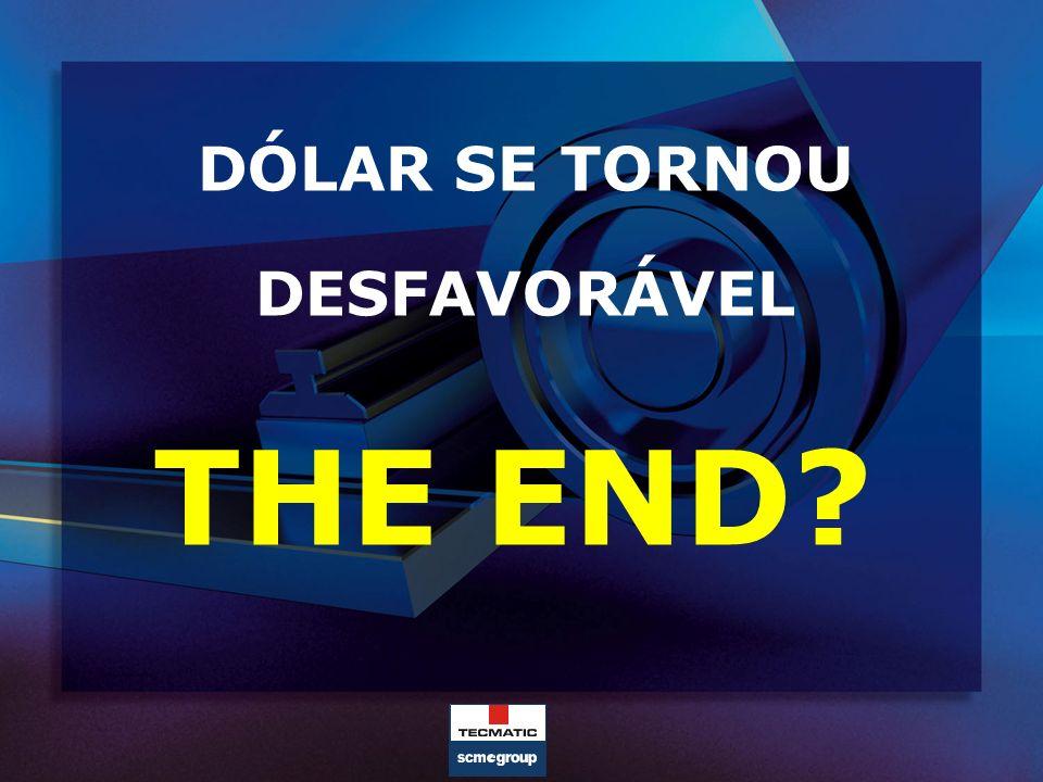 DÓLAR SE TORNOU DESFAVORÁVEL THE END