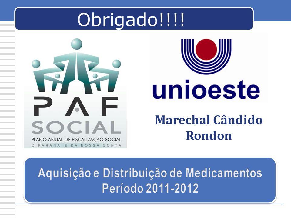 Marechal Cândido Rondon Aquisição e Distribuição de Medicamentos