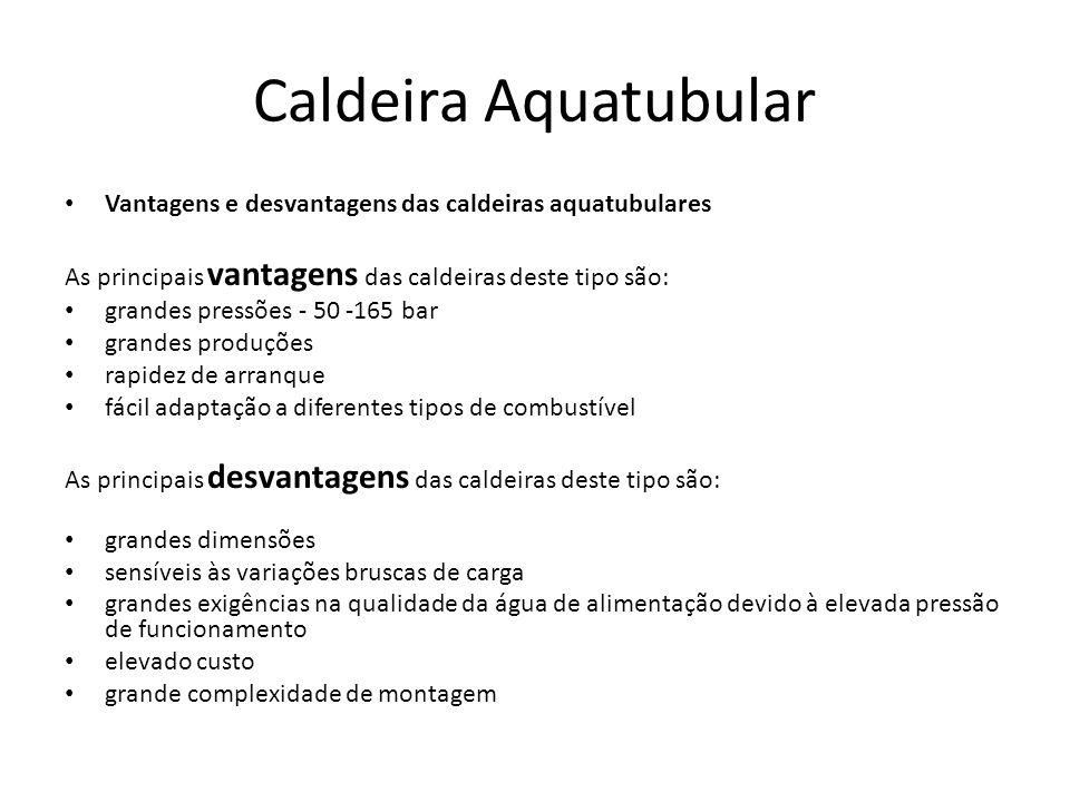 Caldeira Aquatubular Vantagens e desvantagens das caldeiras aquatubulares. As principais vantagens das caldeiras deste tipo são: