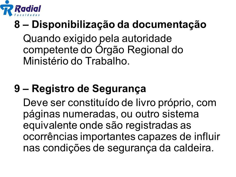 8 – Disponibilização da documentação