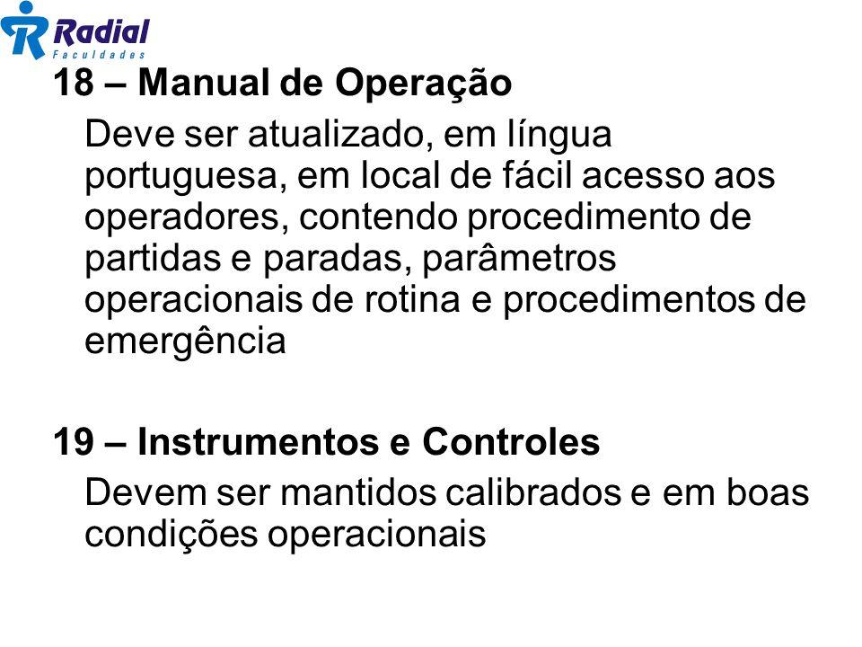 18 – Manual de Operação
