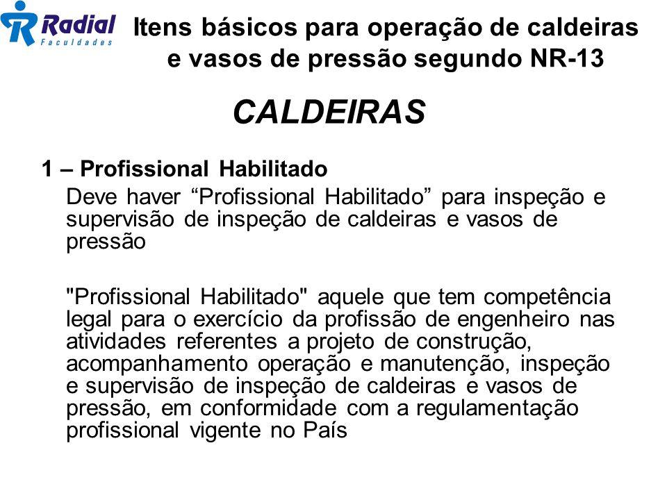 Itens básicos para operação de caldeiras e vasos de pressão segundo NR-13