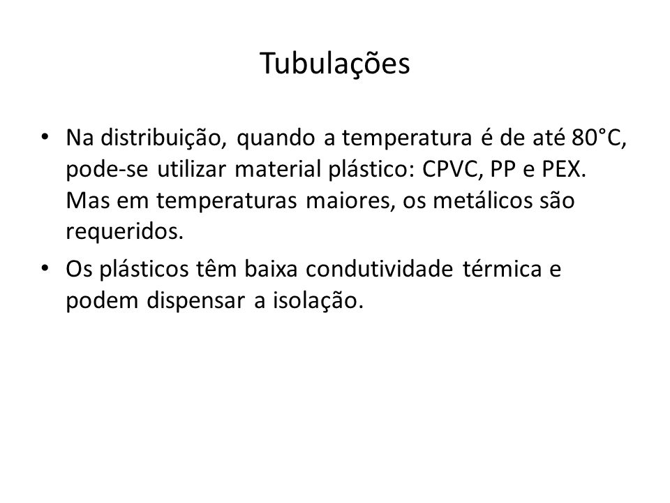 Tubulações