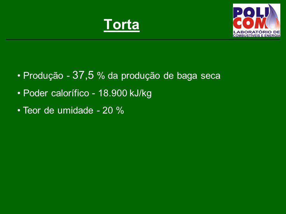 Torta Produção - 37,5 % da produção de baga seca
