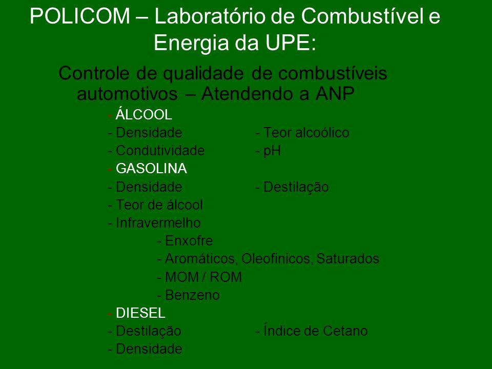 POLICOM – Laboratório de Combustível e Energia da UPE: