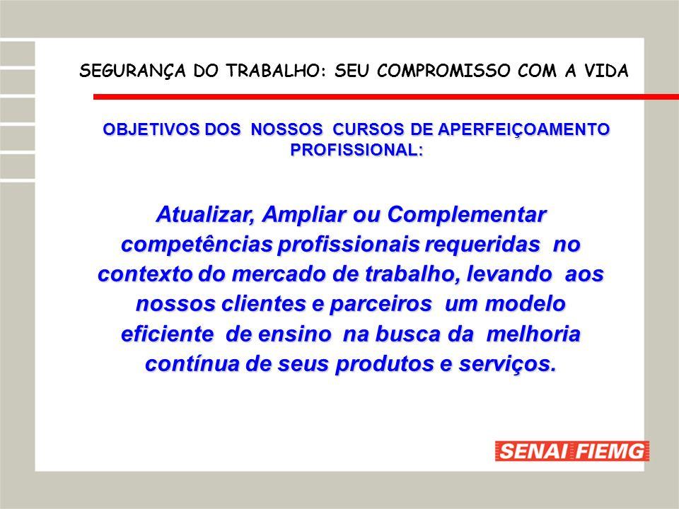 OBJETIVOS DOS NOSSOS CURSOS DE APERFEIÇOAMENTO PROFISSIONAL: