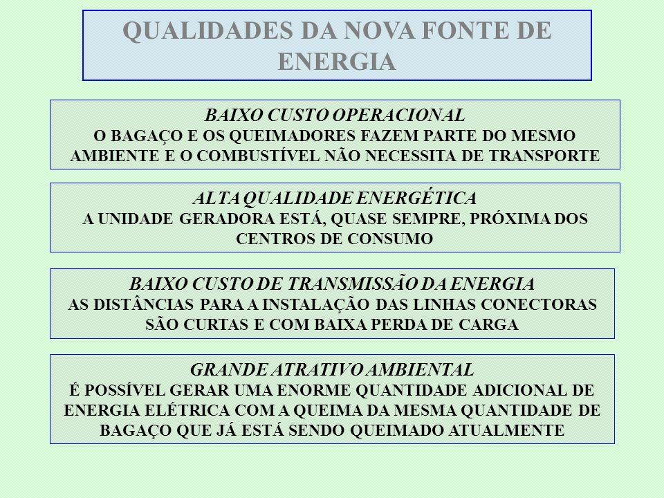 QUALIDADES DA NOVA FONTE DE ENERGIA GRANDE ATRATIVO AMBIENTAL