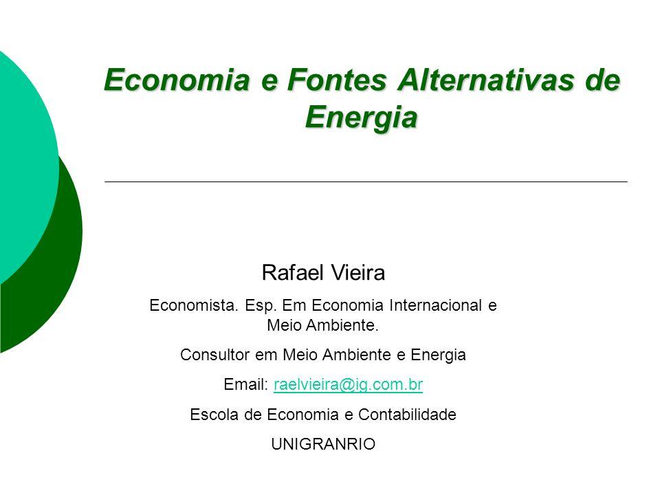 Economia e Fontes Alternativas de Energia