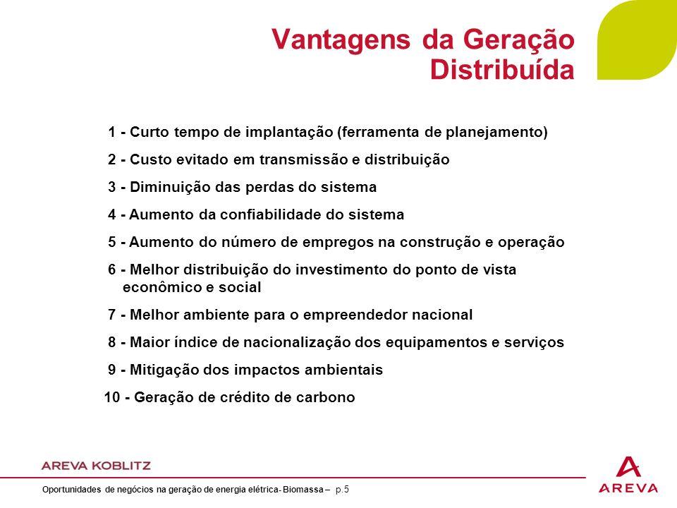 Vantagens da Geração Distribuída