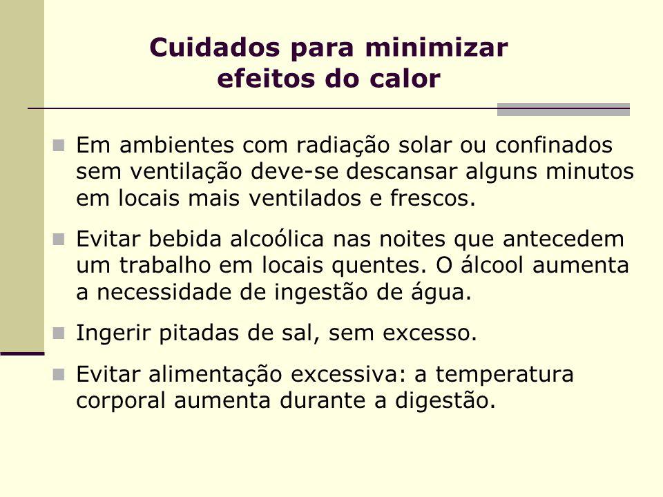 Cuidados para minimizar efeitos do calor