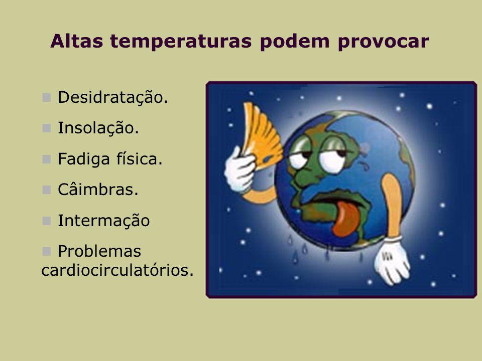 Altas temperaturas podem provocar