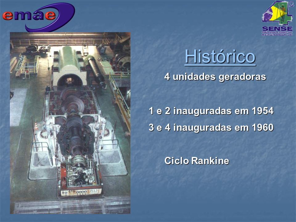 Histórico 4 unidades geradoras 1 e 2 inauguradas em 1954