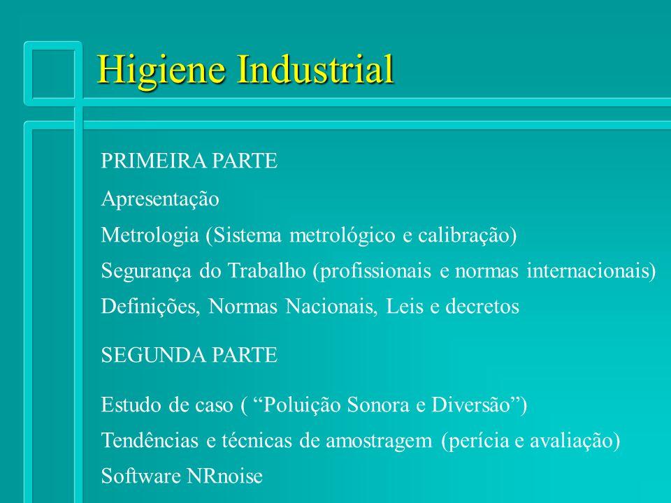 Higiene Industrial PRIMEIRA PARTE Apresentação