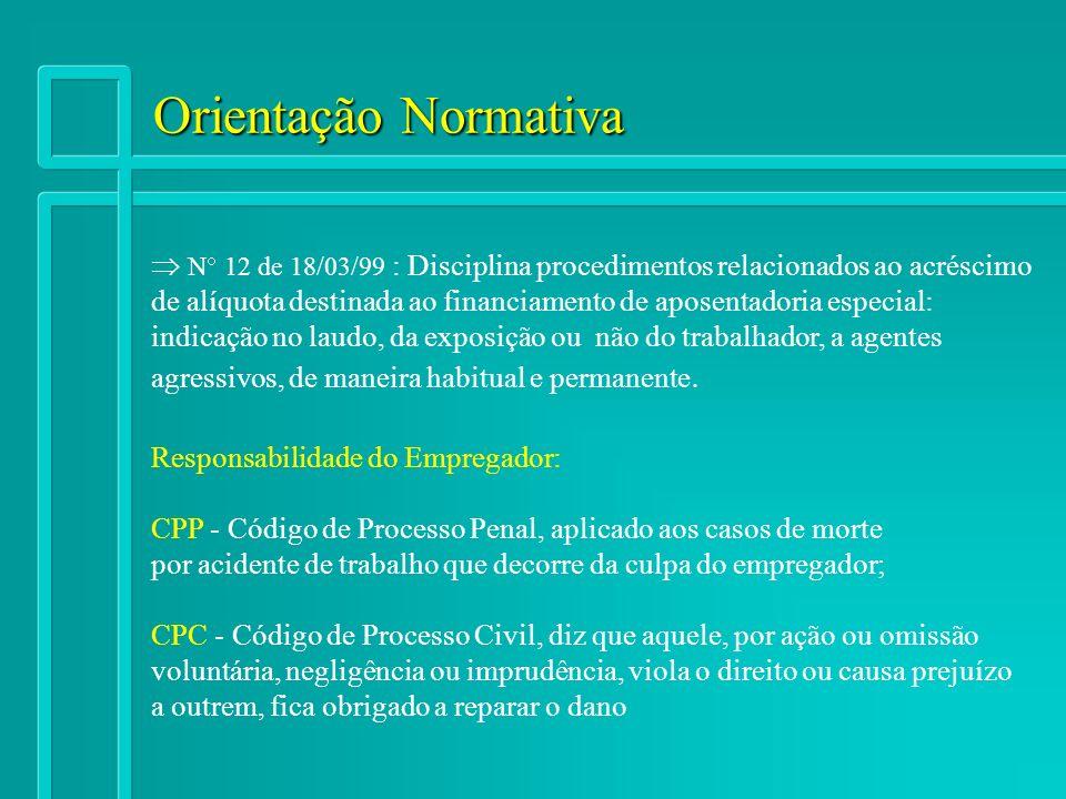 Orientação Normativa  N 12 de 18/03/99 : Disciplina procedimentos relacionados ao acréscimo.