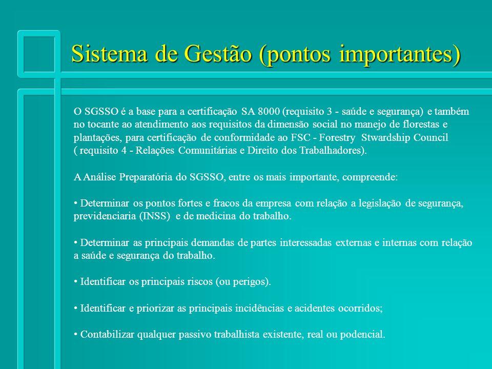 Sistema de Gestão (pontos importantes)