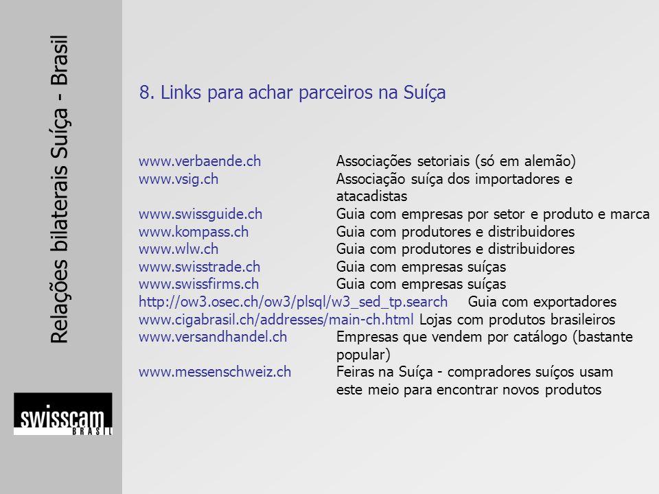 8. Links para achar parceiros na Suíça
