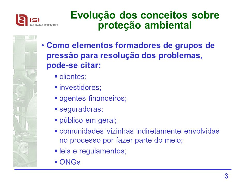 Evolução dos conceitos sobre proteção ambiental