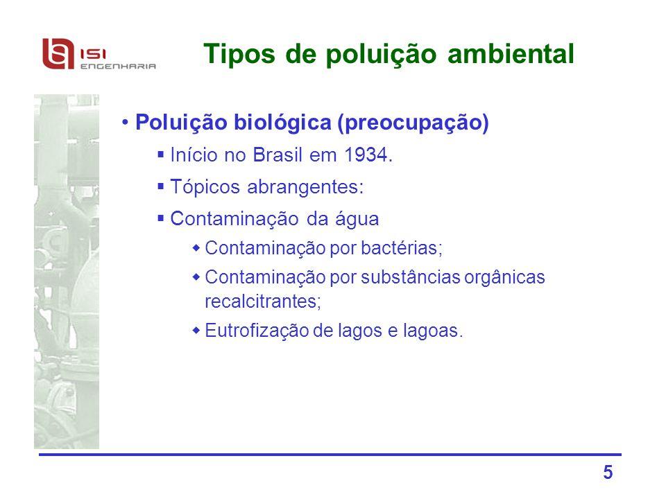 Tipos de poluição ambiental