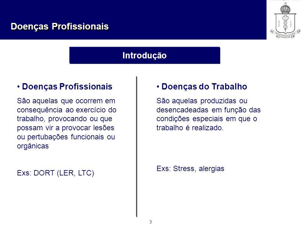 Doenças Profissionais Doenças do Trabalho