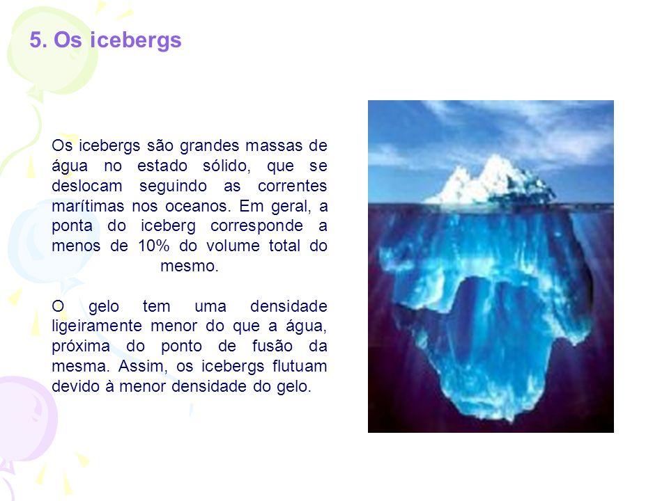5. Os icebergs