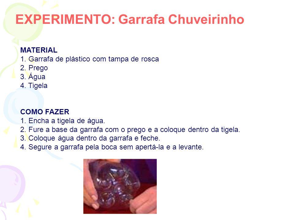 EXPERIMENTO: Garrafa Chuveirinho