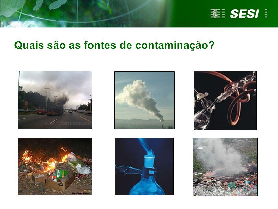 Quais são as fontes de contaminação
