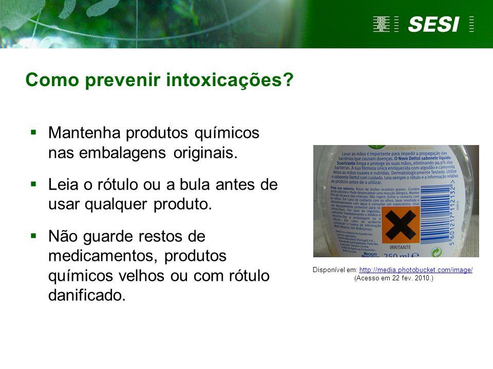 Como prevenir intoxicações