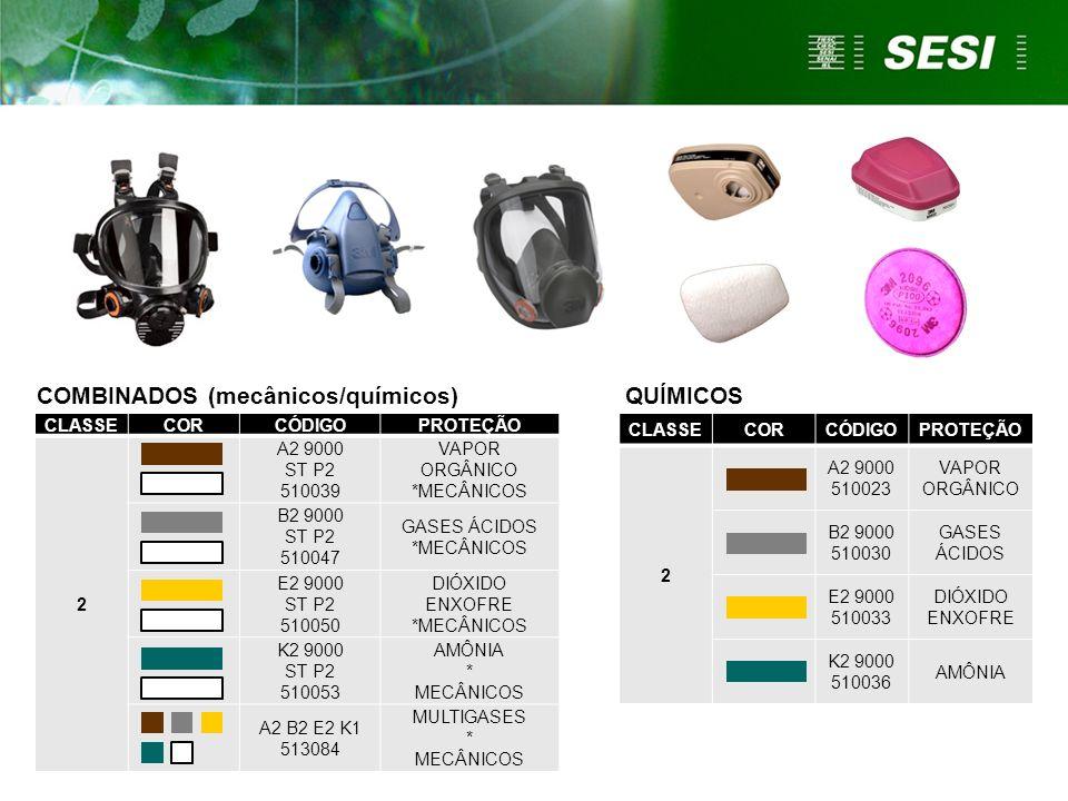 COMBINADOS (mecânicos/químicos) QUÍMICOS