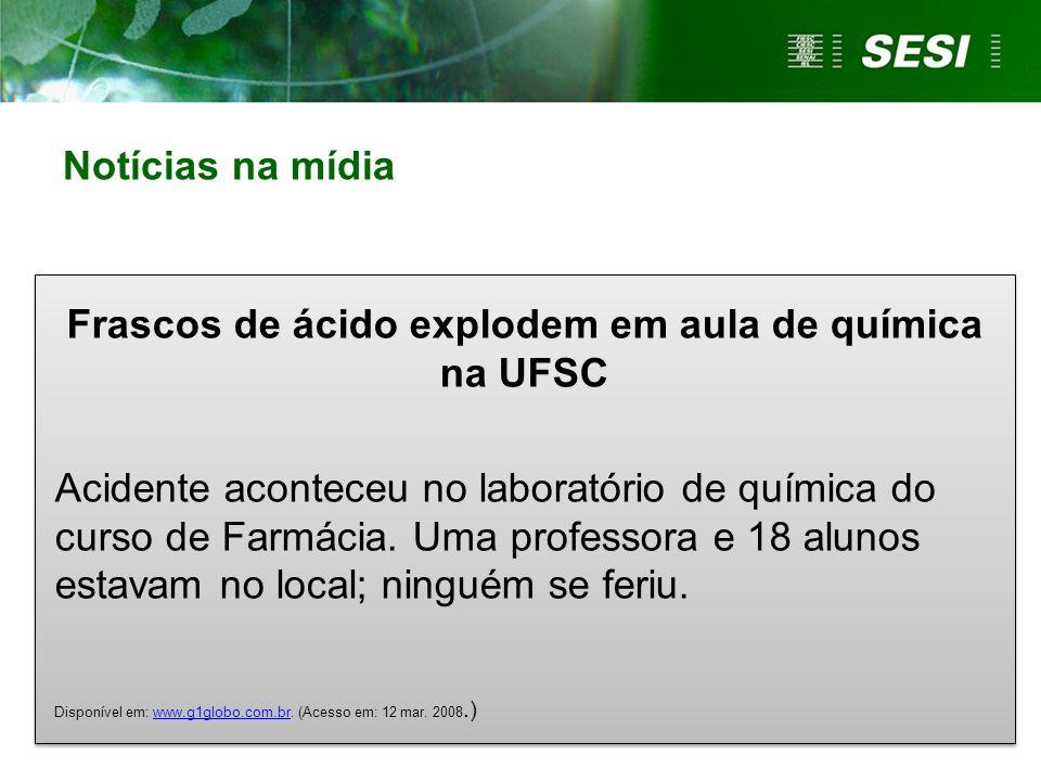 Frascos de ácido explodem em aula de química na UFSC