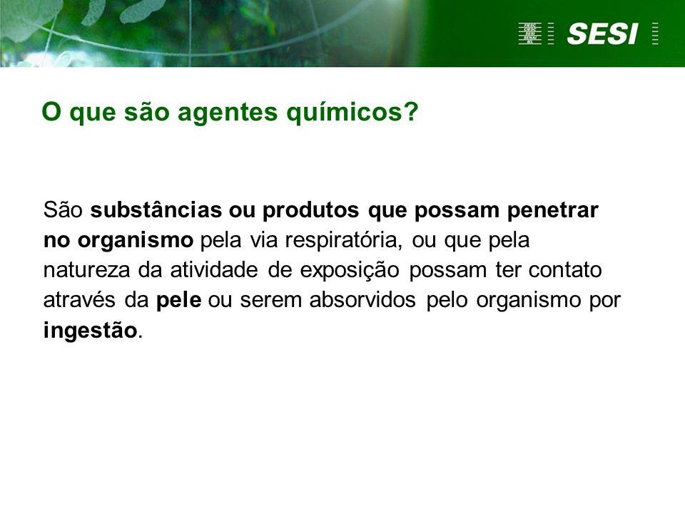 O que são agentes químicos