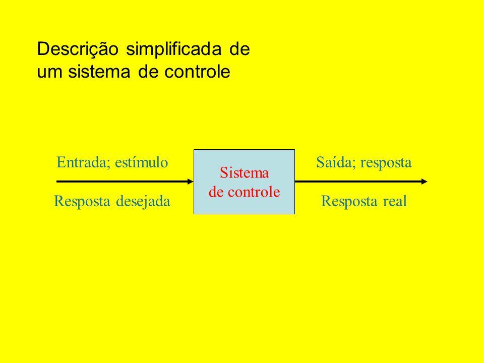 Descrição simplificada de um sistema de controle