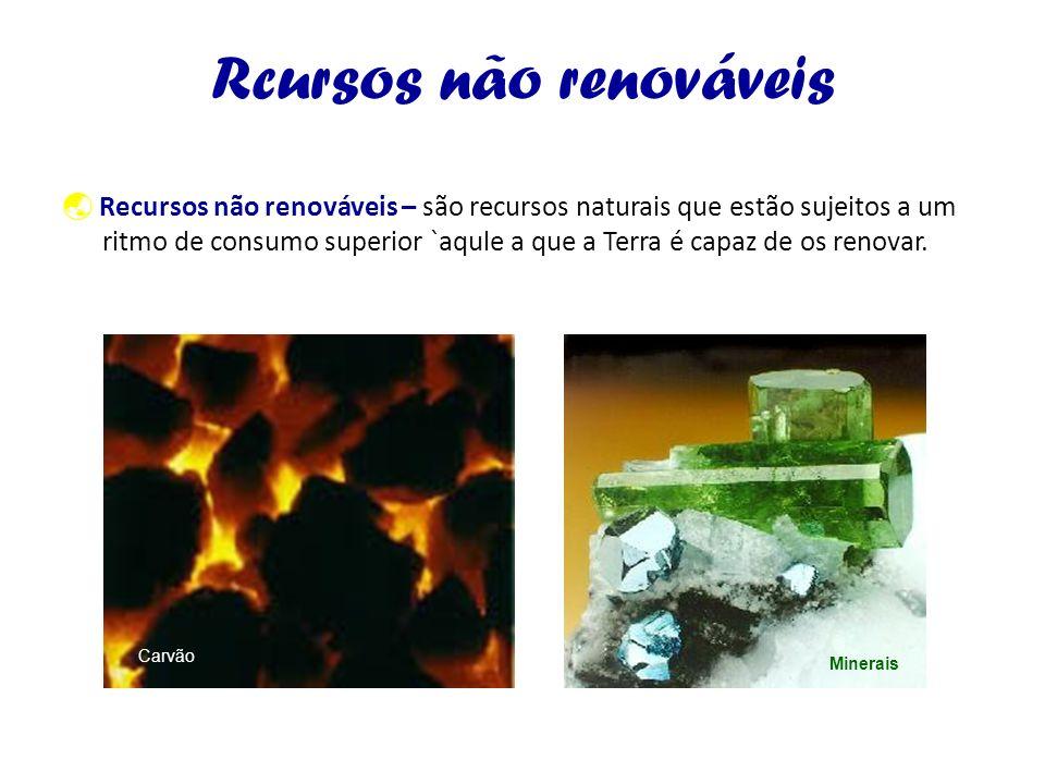 Rcursos não renováveis