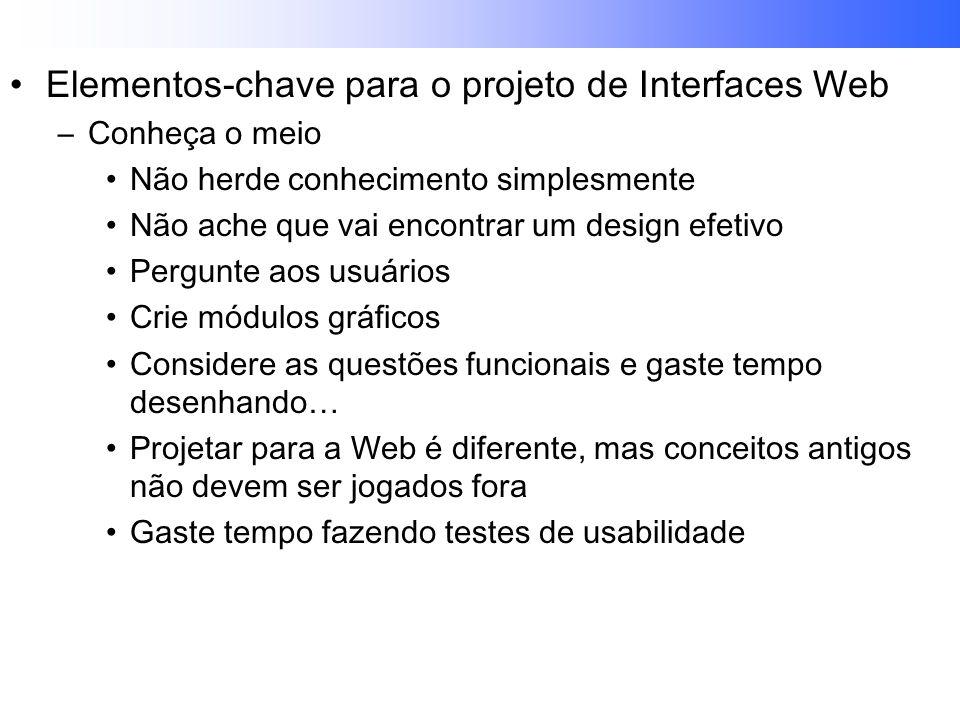 Elementos-chave para o projeto de Interfaces Web
