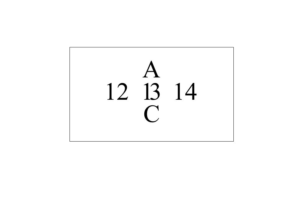 A 12 14 1 3 C
