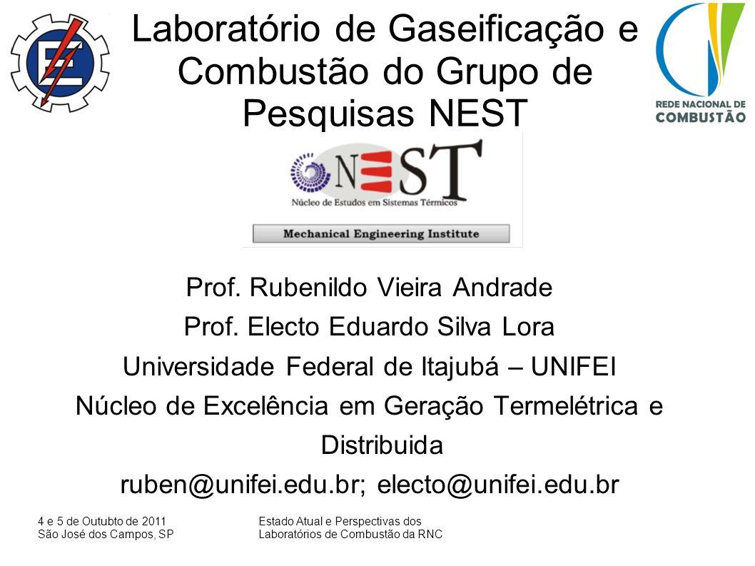 Laboratório de Gaseificação e Combustão do Grupo de Pesquisas NEST
