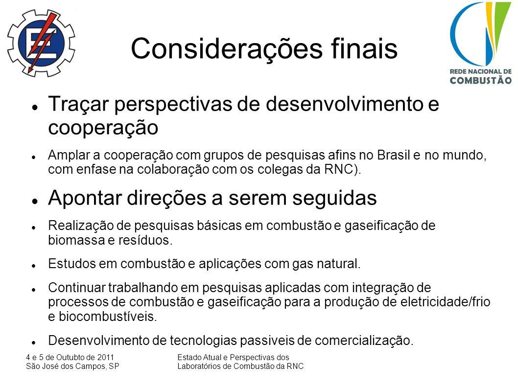 Considerações finais Traçar perspectivas de desenvolvimento e cooperação.