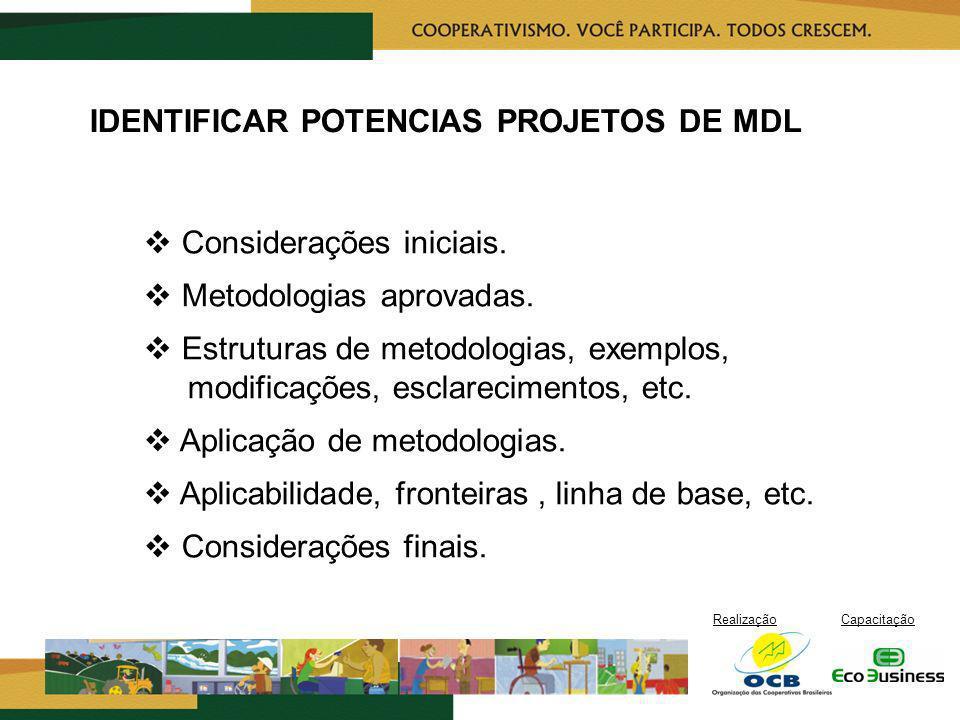 IDENTIFICAR POTENCIAS PROJETOS DE MDL