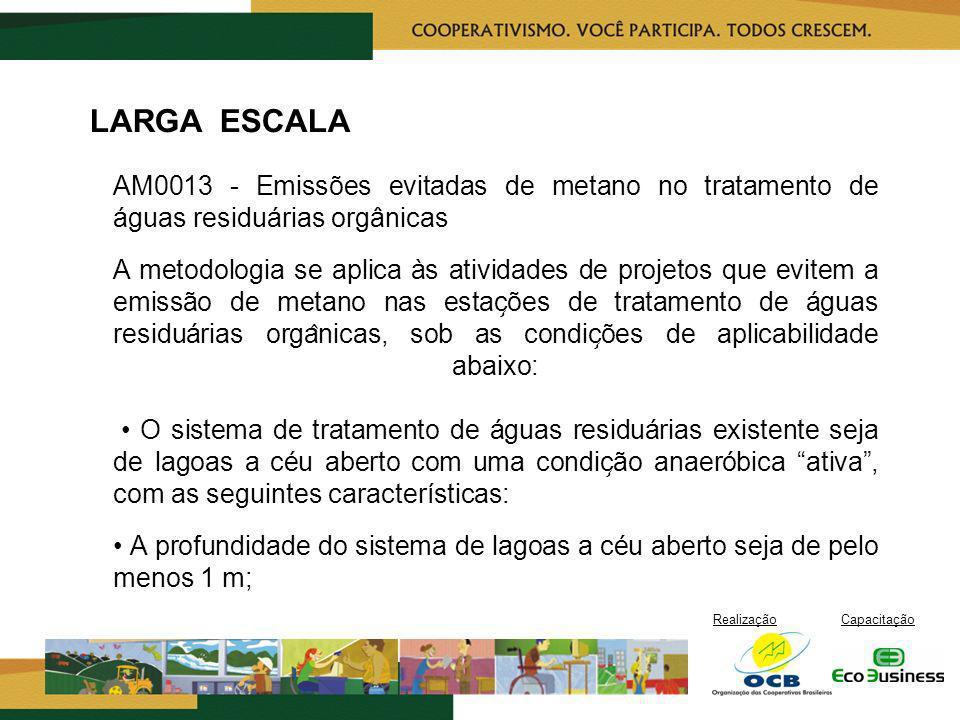 LARGA ESCALA AM0013 - Emissões evitadas de metano no tratamento de águas residuárias orgânicas.
