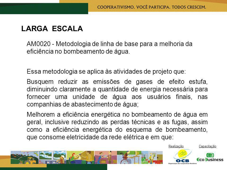 LARGA ESCALA AM0020 - Metodologia de linha de base para a melhoria da eficiência no bombeamento de água.