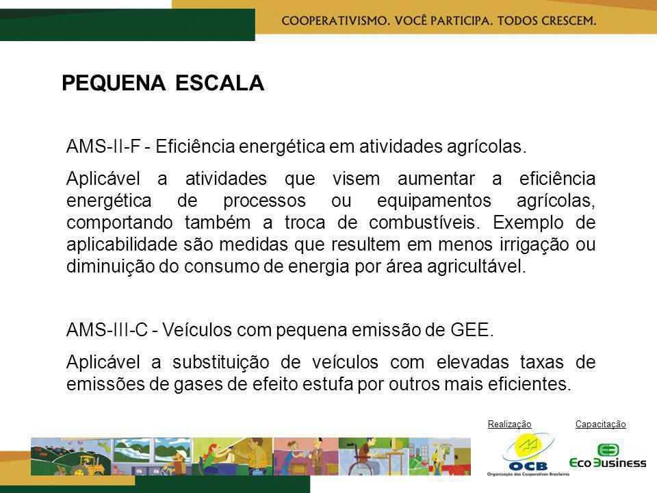 PEQUENA ESCALA AMS-II-F - Eficiência energética em atividades agrícolas.