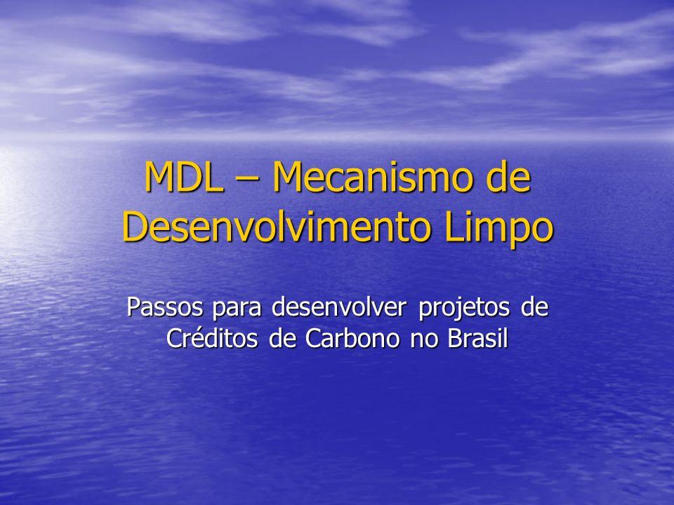MDL – Mecanismo de Desenvolvimento Limpo